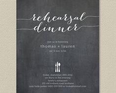 Printable Wedding Rehearsal Dinner Chalkboard by rosiedaydesign