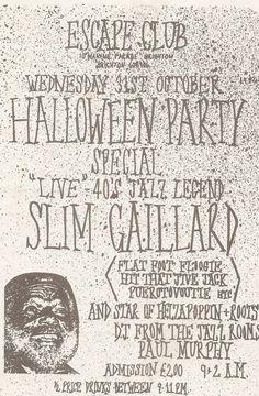 Slim Gaillard ad for Brighton show I wish I'd known about.