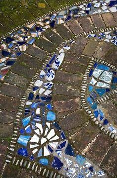 Detail of mosaic tiles. New Zealand