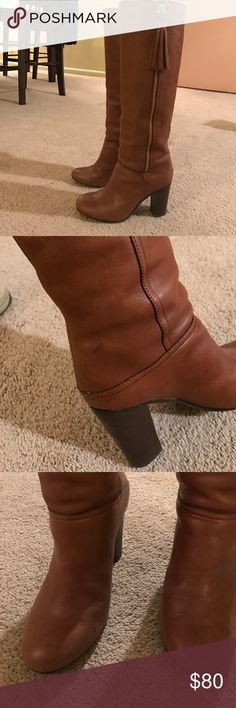 COACH Therese Boots Soft Leather Riding Boots Coach Shoes Heeled Boots