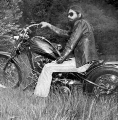 1970s harley biker