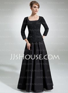 Mother of the Bride Dresses - $165.99 - A-Line/Princess Square Neckline Floor-Length Chiffon Satin Mother of the Bride Dress With Ruffle Beading (008006314) http://jjshouse.com/A-Line-Princess-Square-Neckline-Floor-Length-Chiffon-Satin-Mother-Of-The-Bride-Dress-With-Ruffle-Beading-008006314-g6314
