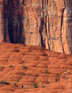 Slickrock Hiking by Michael Flaherty, via 500px; Snow Canyon State Park, Utah