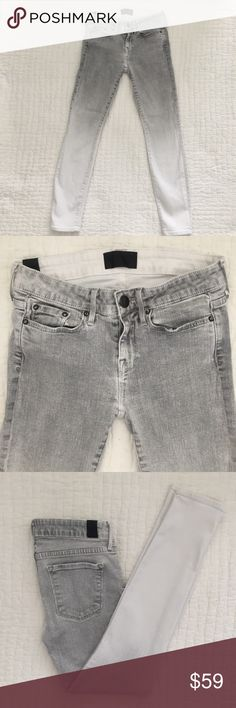 Vince Skinny Faded Gray and White Jean Vince Skinny Faded Gray and White Jean size 26. Excellent condition. Retail 240 dollars Vince Jeans Skinny
