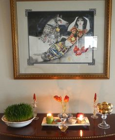 Norooz (folks) - by Fig & Quince, via Flickr.  Love the Oveissi painting