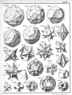 Max Bruckner 1906 polyhedra & icosahedron models | Graphicine