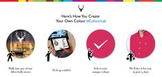 Here's how you create your own colour. #AllenSolly #ColourLab