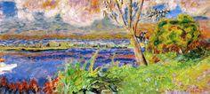 The Seine at Vernon / Pierre Bonnard - circa 1923