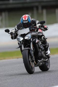2017 Triumph Street Triple RS front profile action