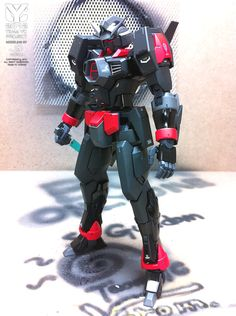 MG 1/100 Gundam AGE-1 Spallow Ver.Black: Modeled by Vorom