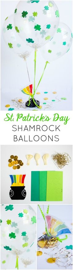 Make these festive St. Patrick's Day balloons with stickers - SO easy!!