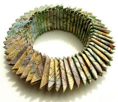 Cumbria bracelet  by effemera, via Flickr    Lovely paper jewellery by Liz Hamman