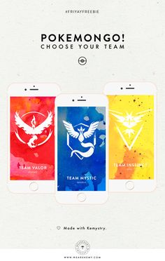 Represent your Pokemon team with these cool free Pokemon Go team mobile wallpapers. - We Are Kemy