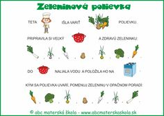 varíme zdravo - zeleninová polievka - maľované čítanie Diy And Crafts, Kindergarten, Preschool, Therapy, Language, Indiana, Education, October, Kid Garden