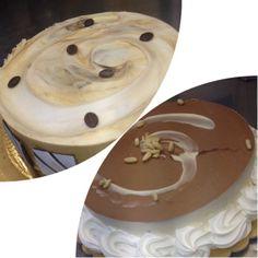 Torta gelato caffè e panna cotta e cioccolato e pinoli