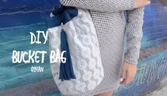 How to Sew a Leather and Lace Bucket Bag – Free Sewing Tutorial