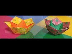458.딱지상자접기.오월의장미.origami.종이접기.인형.상자접기 - YouTube