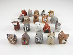 {animal pocket totems} by HandyMaiden - I want 'em all!