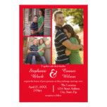 #chic - #3 Photos Red - 3x5 Wedding Invitation