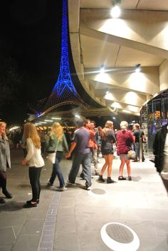 Melbourne Arts Walk by Carter LeAmon at Night