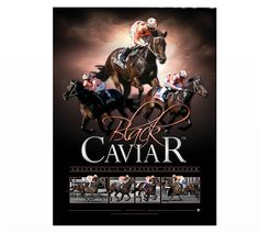 This fantastic print of Black Caviar is strictly limited to 1000 units. It includes a Certificate of Authenticity and is approx 800 x 600mm framed. Grab a piece of history now as these are sure to sell out fast.