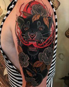 Sep 2018 - Tattoo by Jaguar Tattoo, Orca Tattoo, 4 Tattoo, Sun Tattoos, Cover Tattoo, Black Tattoos, Body Art Tattoos, Leopard Tattoos, Animal Tattoos
