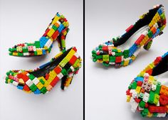Lego shoes; my boys would love to have me wear these!
