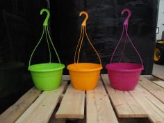 Adding some colour to our hanging basket line up for the 2014 season! Hanging Baskets, Yard, Retail, Outdoors, Seasons, Colour, Spring, Fall Hanging Baskets, Color