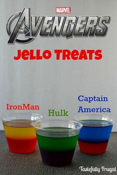 The Avengers Moves & Jello Treat: Learn to play like Hulk, Iron Man and Captain America and a delicious treat that can also be friend Superhero First Birthday, Hulk Birthday, Birthday Games, 4th Birthday Parties, Ironman Birthday, Superhero Party Food, Super Hero Birthday, Superhero Treats, Birthday Quotes