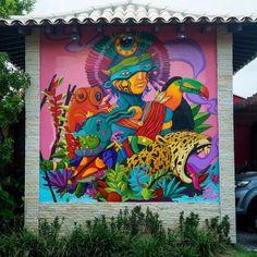 "852 curtidas, 5 comentários - Arte Sem Fronteiras (@artesemfronteiras) no Instagram: ""Artwork (mural) by P Smoov P Smoov in Brasil Instagram : @tenhun Twitter : @psmoov Facebook : Ten…"""