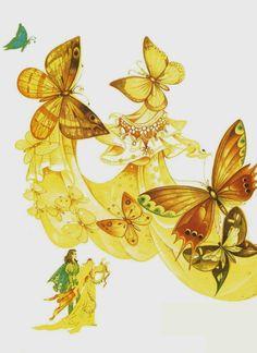 Elena Boariu - Craiasa de borangic Fairy Land, Rooster, Fantasy, Drawings, Fairies, Illustration, Animals, Art, Faeries