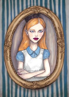 Fashion Artist Danny Roberts Collaboration with Forever21 Painting of Alice Pleasance Liddell of Alice in Wonderland