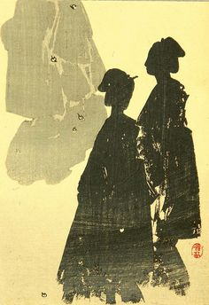 Watanabe Seitei (1851-1918) 渡辺省亭 Silhouettes of Beauties, 1890-1900