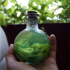 Made a galaxy in a jar! #galaxy #jar #glitter