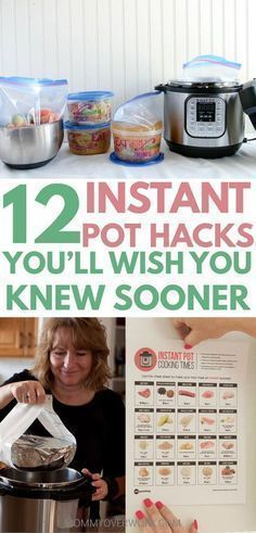 INSTANT POT TIPS, tricks, hacks for beginners to advanced to maximize the 7 in 1 insta-pot duo or lux. seamless freezer cooking for faster family favorite recipes; convert from crockpot, slow cooker, electric pressure cooker; Pressure Cooking Recipes, Freezer Cooking, Cooking Time, Slow Cooker Recipes, Cooking Classes, Cooking Hacks, Multi Cooker Recipes, Bulk Cooking, College Cooking