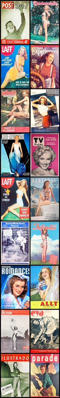 1947 magazine covers of Marilyn Monroe