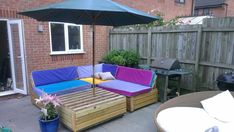 Garden Patio Sofa set with pallets  #Lounge, #Pallet, #Sofa