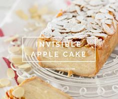 Invisible apple cake is taking Japan by storm right now. Relatively easy to bake, and has fewer calories than normal cake because of a lot of apple used.