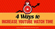 4 Ways to Increase YouTube Watch Time Viral Marketing, Online Marketing, Drawing Ideas List, Easy Drawings For Kids, Easy Video, Kids Watercolor, You Youtube, Video Photography, Online Jobs