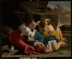 Orazio Gentileschi - Lot and His Daughters (c.1622)
