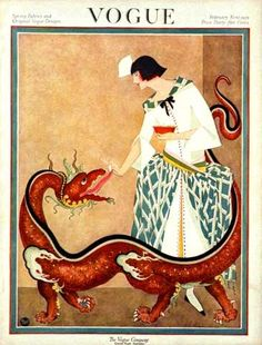 ⍌ Vintage Vogue ⍌ art and illustration for vogue magazine covers - George Plank, Vogue, February 1923