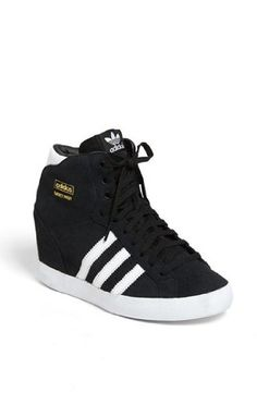 adidas 'Basket Profi' Hidden Wedge Sneaker (Women) available at Hidden Wedge Sneakers, Black Wedge Sneakers, Womens Wedge Sneakers, Wedged Sneakers, Men Sneakers, Converse Outfits, Nike Outfits, Sporty Outfits, Cute Shoes
