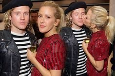 Ellie Goulding looks lip-smackingly lovely as she plants a kiss on ...