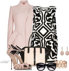 """""""Black, Nude and White"""" by lashandanista ❤ liked on Polyvore"""