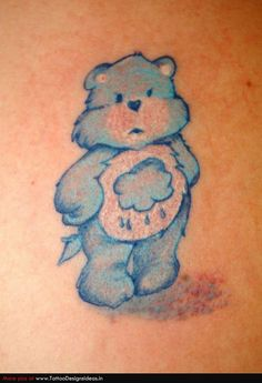 I need to incorporate a teddy bear into my sleeve somewhere to represent Keith, maybe take off the belly badge..
