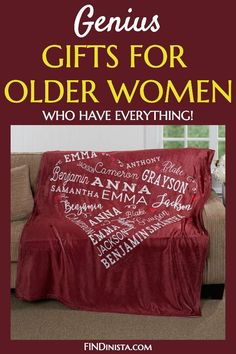 Looking for unique older lady gift ideas?  Delight Mom, Grandma or another favorite senior lady with the perfect present!  Shop over 60 awesome gift ideas for an elderly woman.