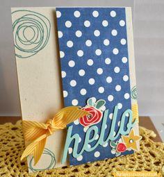 Burlap Kisses: Papertrey Ink Signature Sketches - March. Papertrey Ink - Circle Scribbles Stamp Set. Bigger Blooms. Mini Blooms. Hello Die