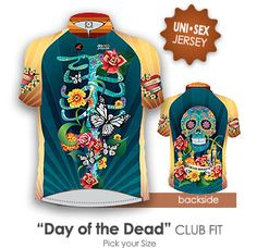 Sugar Skulls and skeleton rib cage are covered in vines, flowers and skeleton butterflies - inspired by Day of the Dead holiday in Mexico.