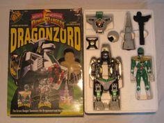 POWER+RANGERS+morphin+DRAGONZORD++++Green+Ranger+&+Power+Lazer+#2270