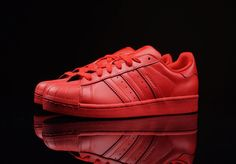 Adidas Originals RED Superstar Supercolor Pack Pharrell Williams S41833 Sz: 8-13 #adidas #AthleticSneakers